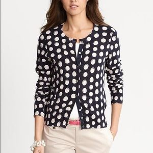 Banana Republic Polka Dot Cardigan XS